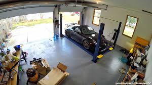 bendpak hd9 4 post car lift installation timelapse 4k youtube