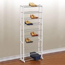 shoe organizer lynk 30 pair shoe rack 10 tier shoe shelf organizer white