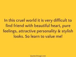 quote pure heart in this cruel world it is very friendship quotes 2 image