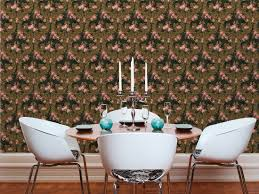 Wallpaper In Dining Room Kind Of White Wallpaper 340751