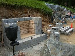 Building An Outdoor Brick Fireplace by Fire Pits Design Magnificent Cool Simple Cinder Block Fire Pit