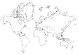outline of world map outline world map stock illustration illustration of continent