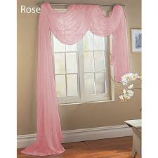 Shabby Chic Voile Curtains by Amazon Com Rose Baby Pink Scarf Sheer Voile Window Treatment