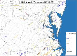 World Map Of Tornadoes by June 13 2013 Montgomery County Tornado Track Among Longest On