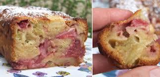 cuisiner la rhubarbe cake à la fraise à la rhubarbe et au miel cuisine cagne