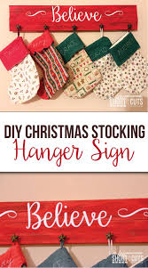 diy christmas stocking hanger sign a few shortcuts