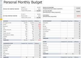 personal monthly budget spreadsheet template excel about