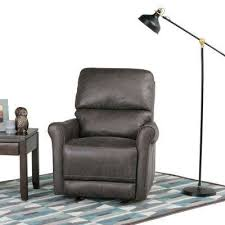 recliner gray chairs living room furniture the home depot