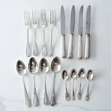 vintage silver plated french flatware set of 4 on food52