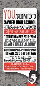 50th high school class reunion invitation blue banner class reunion invitation 10 year class reunion