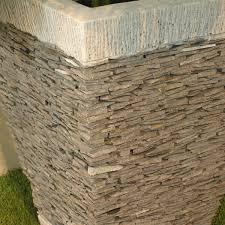 pas japonais en pierre naturelle pot de jardin en ardoise carré naturel h 50 cm