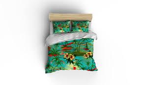 hawaiian island print duvet coverhawaiian beddinghibiscus