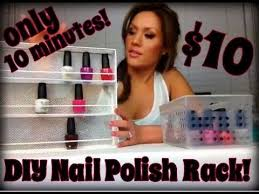 how to make your own nail polish rack super simple