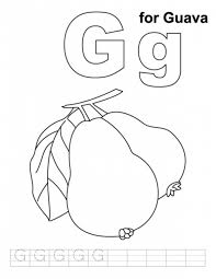 guava coloring pages alphabet g alphabet coloring pages of