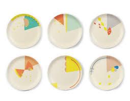 assiettes en bois set de 6 assiettes multicolores en bambou motifs engel louli