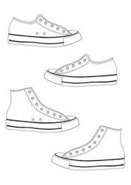 running shoe pattern use the printable outline for crafts