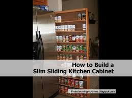 How To Build A Kitchen Pantry Cabinet Slim Sliding Cabinet11 Jpg