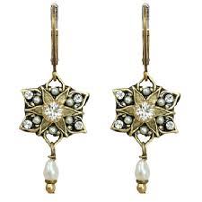 pearl dangle earrings deco small pearl dangle earrings by michal golan