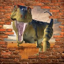 stickers trompe oeil mural sticker mural trompe l u0027oeil dinosaure art déco stickers
