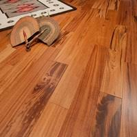 prefinished solid tigerwood hardwood flooring at cheap prices by