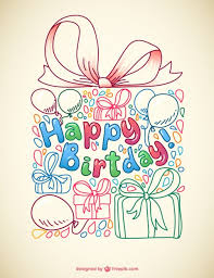 Doodle Birthday Card Vector Doodle Birthday Card Vector Free Vector Download In Ai