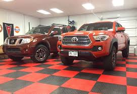 nissan frontier pro 4x 2017 2016 toyota tacoma trd off road 4x4 vs nissan frontier pro 4x by