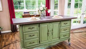 used kitchen islands kitchen gorgeous diy kitchen island from dresser diy image