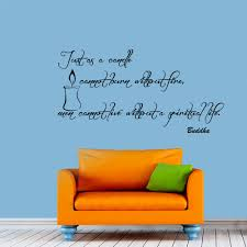 Wall Murals Amazon by Wall Decals Buddha Quote Decal Just As A Candle Cannot Burn
