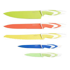 Coloured Kitchen Knives Berghoff Studio Multi Coloured Knife Set Walmart Canada