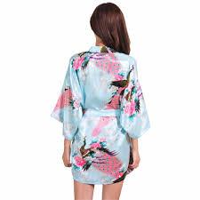 aliexpress com buy light blue silk rayon robe dress chinese lady