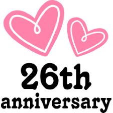 26th wedding anniversary 26th wedding anniversary