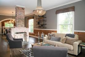 two sided fireplace transitional living room munger interiors