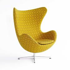furniture arne jacobsen egg chair by fritz hansen with yellow