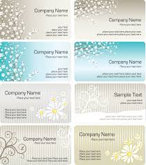 fine pattern business card template 01 vector free vector 4vector