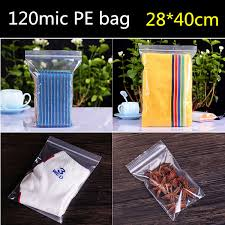 50pcs 28cm 40cm 120micron large clear plastic shoes bag zip lock