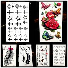 1pc painless water transfer temporary tattoo cross designs hyf 001