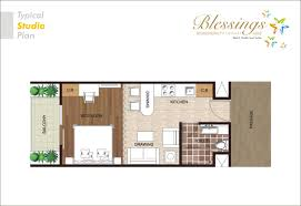 elegant studio apartments plans residential plan pinterest