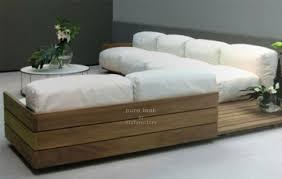 Wooden Table Ls For Living Room Solid Teak L Shape Low Seating For Living Room Set Ls 6 Details