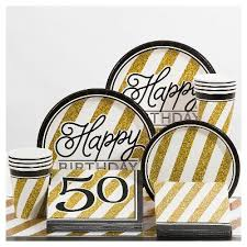 50th birthday party supplies black and gold 50th birthday party supplies collection target