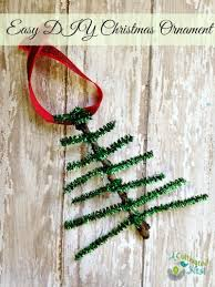 pipe cleaner tree ornament craft diy craft