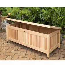 Toy Bench Cushion Outdoor Cedar Storage Box Great For Toys Gardening Supplies