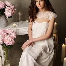 honeymoon sleepwear silk bridal nightgown with lace from alingerie on etsy