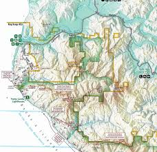 Route 40 Map by Lost Coast Trail And The King Range Wilderness New Additions To