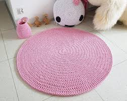 Pink Round Rug Nursery Promotion Many Colors Round Area Rug Crochet Nursery Rugs