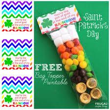free st patrick u0027s day bag topper printable