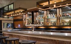 contemporary luxury restaurant and bar interior design of bar