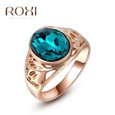 blue fashion rings images Roxi women rings classic genuine austrian crystals rose gold color jpg