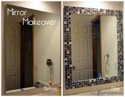 incredible bathroom makeover ideas anyone can diy tile mirror