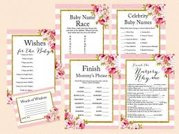 Words Of Wisdom Bridal Shower Game Pink Floral Chic Baby Shower Game Pack Magical Printable