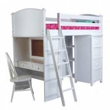 White Loft Beds With Desk Foter - White bunk bed with desk